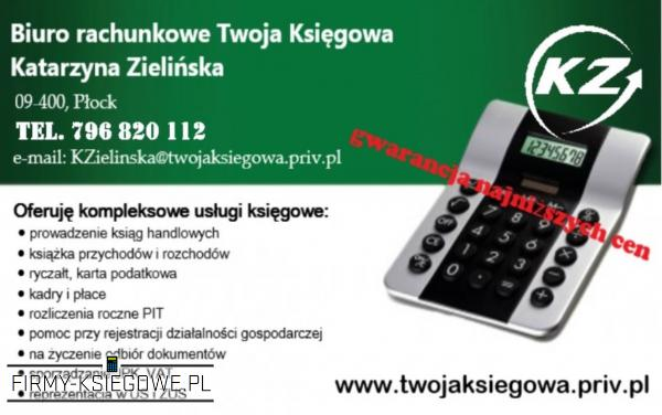 Biuro rachunkowe Płock Twoja Księgowa Katarzyna Zielińska