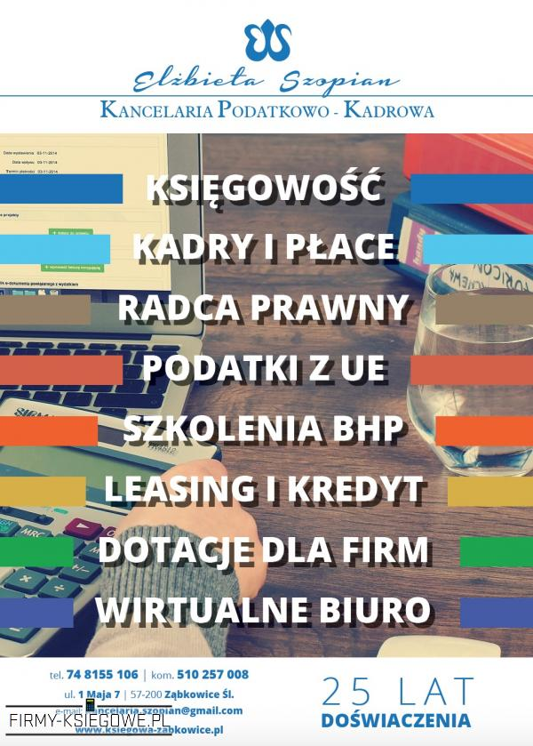 Kancelaria Podatkowo-Kadrowa Elżbieta Szopian